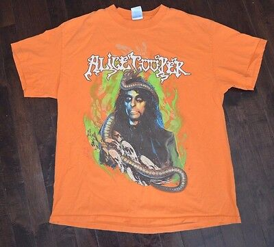 2005 Alice Cooper Halloween Concert Tour T-Shirt Size Large (2 Sided)