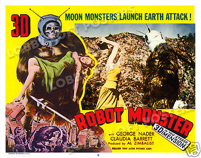 Robot Monster Lobby Scene Card # 8 Poster 1953 Claudia Barrett George Barrows