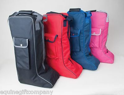 Rhinegold Long Riding Boot Bag Various colours Protection Keep Boots Clean