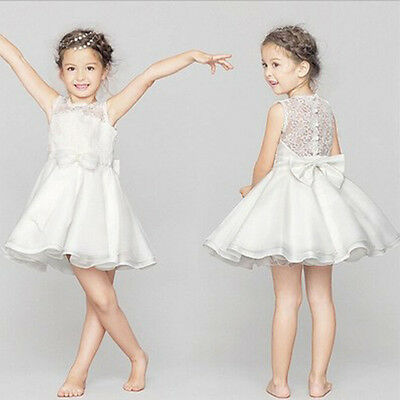 Princess Dress Kid Party Pageant Wedding Bridesmaid Dresses Flower Girl size100