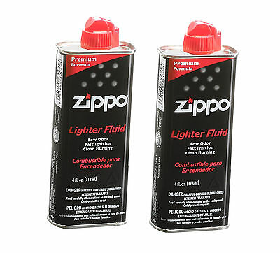 +2-Pack. Zippo Premium Lighter Fluid 4 fl.oz (118ml) Can Fuel For Zippo Lighters