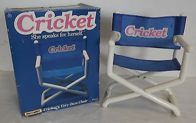 VINTAGE BOXED 1980s MATCHBOX PLAYMATES CRICKET THE TALKING DOLL DIRECTOR'S CHAIR