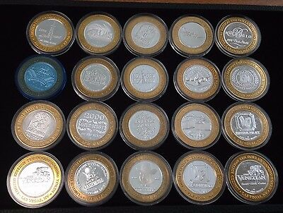 (Lot of 20) $10 Las Vegas Casino Silver Chip Token  ~ Strike Limited Edition #17
