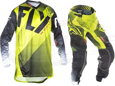 Fly Racing Lite Hydrogen Jersey & Pant Combo Set MX/ATV  2017 Riding Gear Lime
