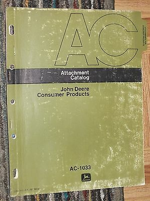 JOHN DEERE Parts Catalog Consumer Products AC-1033 Tractor Mower Snowmobile