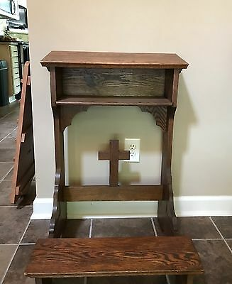 Wooden Prayer Bench- CHURCH SALVAGE FURNITURE ANTIQUE/VINTAGE SALE