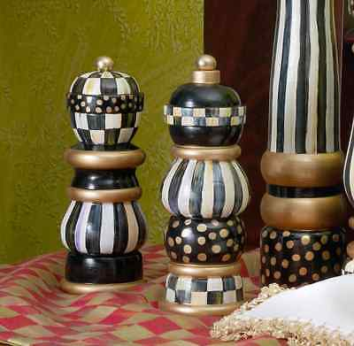 Mackenzie Childs Courtly Check Salt & Pepper  Set