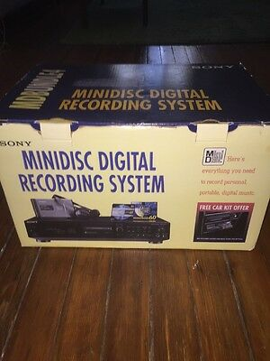 Sony MD Bundle 4 MDS-JE510 Sealed MZ-E40 Unused MDW-60A Mini Disc Collector's