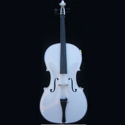 White 4/4 electric acoustice Cello Outfit Beaut+Bow+Bag.