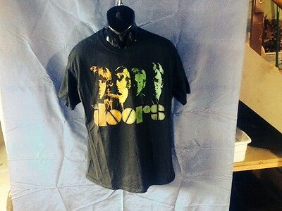 Men's Large Black The Doors Rock & Pop 100% Cotton T- Shirt Jim Morrison