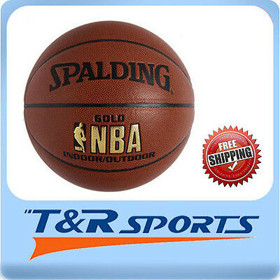 Size 5 Spalding Gold NBA Basketball Game Ball Indoor Outdoor Free Delivery AU