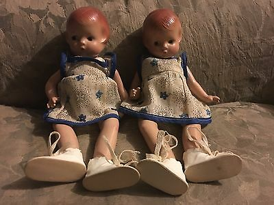 Twin doll patsyette by Effanbee  original clothes and shoes
