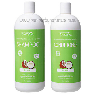 Biologika Coconut Shampoo + Conditioner Duo Pack 2 x 1Litre
