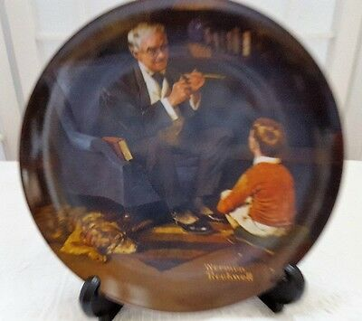 Norman Rockwell THE TYCOON Decorative Plate #AN422 Bradford Exchange Knowles