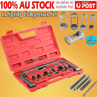 New 10pcs Valve Spring Compressor Tool Kit For Car Motorcycle Petrol Engines AU