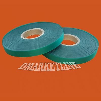 "2 Green Vinyl 300 FEET x 1/2"" 4 mil Stretch Tie Tape Plant Stretchy Ribbon Garde"