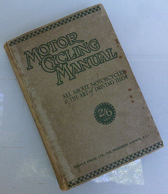 1925 Antique Motorcycle Book Manual Indian Harley Triumph Jap Bsa Norton Ajs Fn