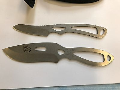"Set of two RMEF Buck 135  and 143 Paklite knives 3""  and 4""  blade w/sheath."