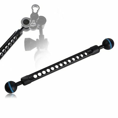Double Ball Joint Arm For Underwater Camera Housing Case Diving Bracket Set【UK】