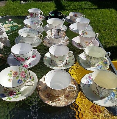 Antique tea cups and saucers