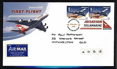 SCARCE - Australia Stamps 2008 QANTAS A 380 Airbus FIRST FLIGHT COVER