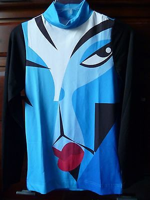RARE New Prince Rogers Nelson Abstract Art Shirt from Paisley Park kiss lips eye