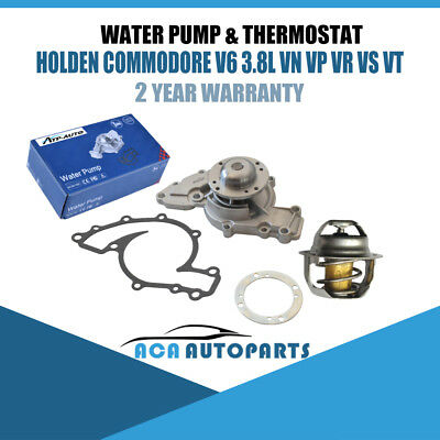 Thermostat Water Pump&Gasket Fit Holden V6 Commodore VN VP VR VS VT VU VX VY 3.8