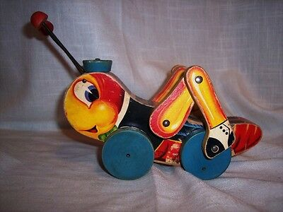 Vintage 1955 Fisher Price #678 Kriss Kricket Pull Toy-Very Good Condition