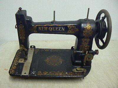Antique A.G.Mason NEW QUEEN Treadle Sewing Machine Head, c.1903-16, Working