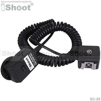 iShoot I-TTL Off-Camera Shoe Cord Cable with Test Key for Nikon SC-28 SC-29