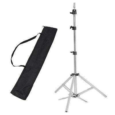 "63"" Stainless Steel Tripod Stand Hair Training Head Mannequin Holder Adjustable"