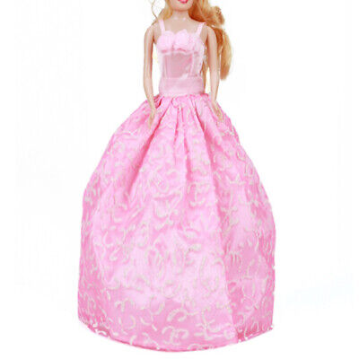 Flower Princess Wedding party Gown Dress Floral Clothes for Barbie Doll Acc