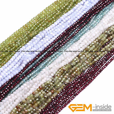 Natural Grade AAA Assorted Stones Faceted Round Beads For Jewelry Making 15""