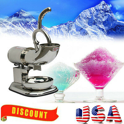 【USA】 Ice Shaver Machine Snow Cone Maker Shaved Electric Crusher 400lbs/h 60Hz