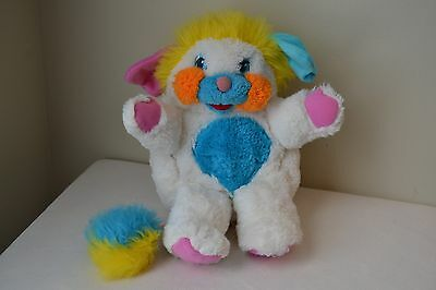 Vintage 1985 Puffball Popple White with Multi Colors from American Greetings