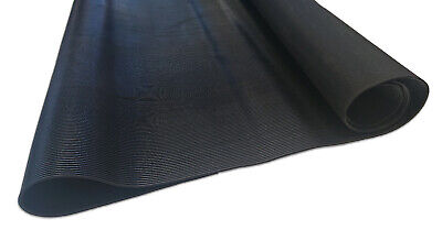 Ribbed Rubber Matting 1M & 1.2M Wide 3Mm Thick Anti Slip - Premium Quality Mat