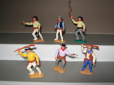 Timpo cowboy set 2nd series set of 6 in 6 poses V/ good condition late 60's