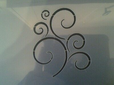 Swirly Stencil Mylar Reusable Stencil Airbrush Art Craft Crafting Wall Stencil