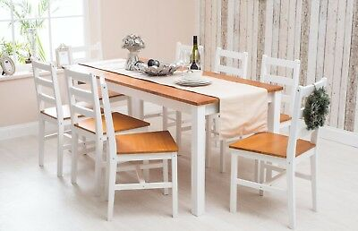 solid pine wood dining set table and chairs dining room furniture rh picclick co uk Real Wood Dining Room Sets Elegant Dining Room Sets