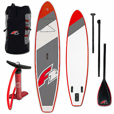 "F2 Pro Ride Inflatable Sup Board Set ~ 10,6"" + Paddel + Pumpe + Bag"