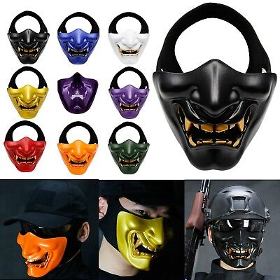 Tactical Airsoft Paintball War Games Cosplay Party Props Terror Half Face Mask