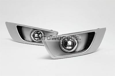 Ford Mondeo Titanium X 07-10 Silver Front Fog Lights Lamps Pair Set Left Right