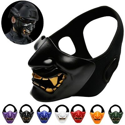 Skull Terror Tactical Half Face Mask Cover Airsoft Paintball Wargames Protection