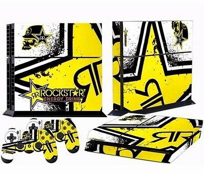 Cool Star Custom Sticker for PS4 PlayStation 4 Console Controller Skins-Rockstar