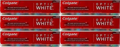Colgate Optic White Sparkling White Toothpaste (6 x 75ml) Whitening Toothpaste