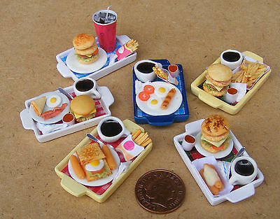 1:12 Scale Meal On A Tray Handmade Barbecue Breakfast Tumdee Dolls House ML11