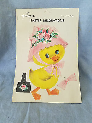 vintage Easter Decorations Hallmark punch out chicks & rabbits