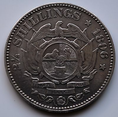 South Africa 1896 Two & a Half (Kruger) Shillings.      T3