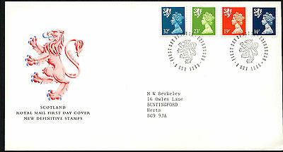 GB FDC 1988 Scotland Regionals Definitives First Day Cover #C41788