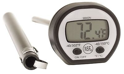 Taylor Digital Pocket Thermometer, LCD, 4-3/4In L - 9840